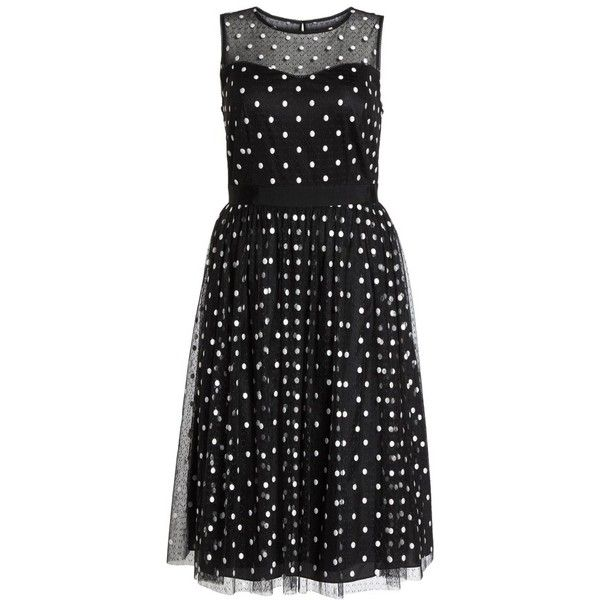 Plus Size Women's Adrianna Papell Illusion Fit & Flare Dress (1,515 CNY) ❤ liked on Polyvore featuring plus size women's fashion, plus size clothing, plus size dresses, black white, plus size, white and black dress, fit-and-flare dresses, fit flare dress and black and white plus size dresses