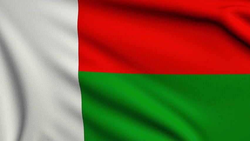 Madagascar Flag Stock Footage Video Shutterstock Flags Of - Madagascar flag