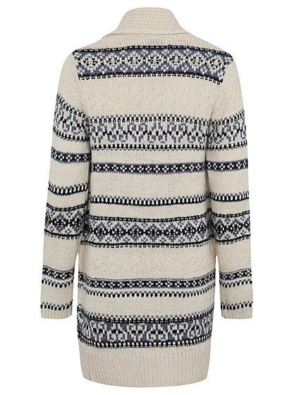 Patterned Longline Knitted Cardigan, read reviews and buy online at George at…