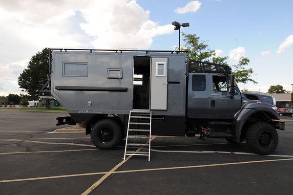 Heavy Duty Grey Truck Camper | Heavy Duty Off Road Camper