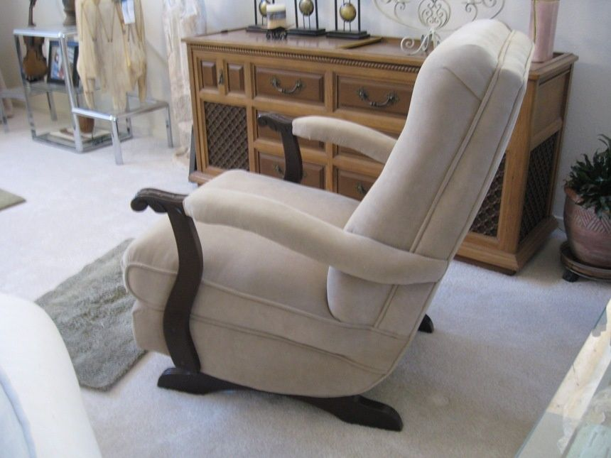 Incroyable Vintage Furniture · Reading Chairs · Platform Rocker Upholstered 1950u0027s |  Collectors Weekly
