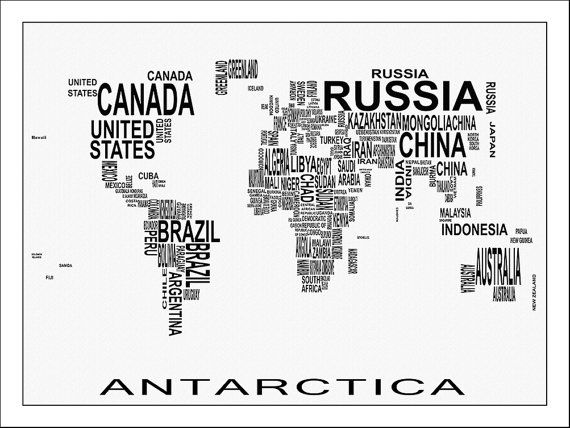 WORLD MAP Map Of The World Large World Map World Map Poster - Large world map painting