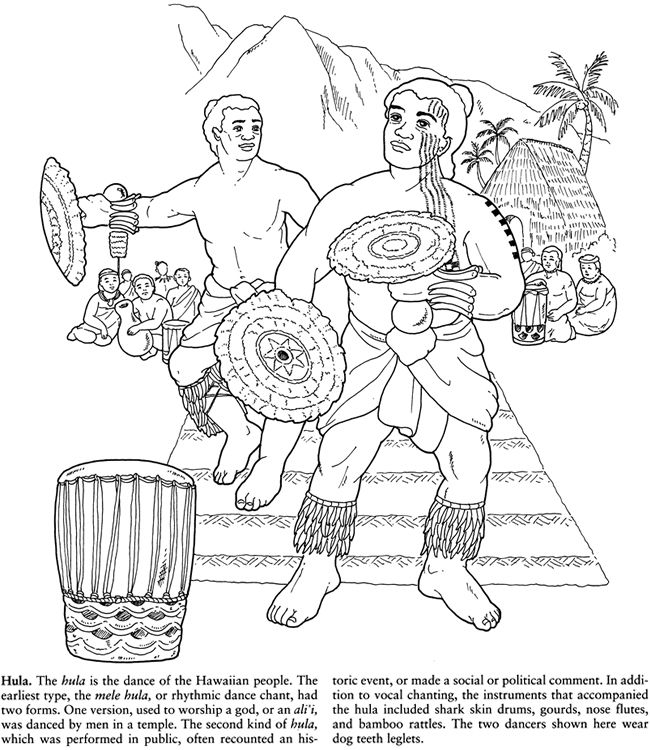 Story of Hawaii Coloring Book Dover Publications (With ...