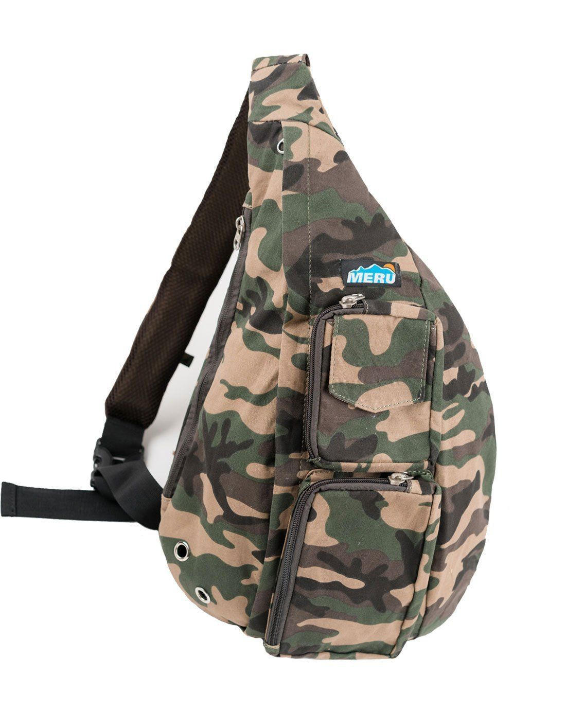 37662ca7273d Amazon.com  Meru Sling Backpack Bag - Small Single Strap Crossbody Pack for  Women and Men (Camouflage)  Sports   Outdoors