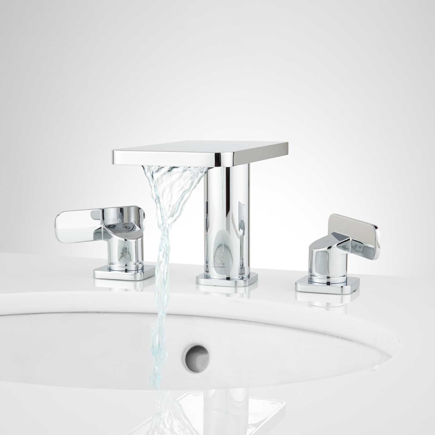 Wyatt Widespread Waterfall Bathroom Faucet No Overflow Chrome