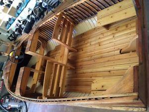 Giesler, cedar strip, wood boat Hamilton Ontario image 2