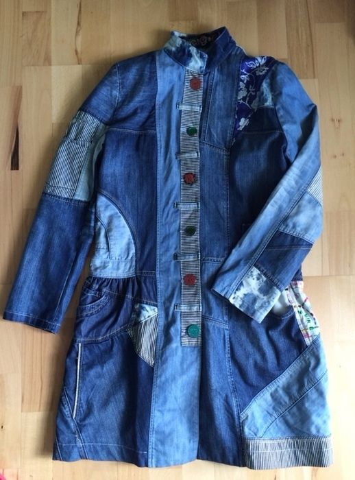 d2110f7e4461 Desigual Jeansmantel 40 42 44 wie neu! Np 319 € Jeans Mantel   Plus ...