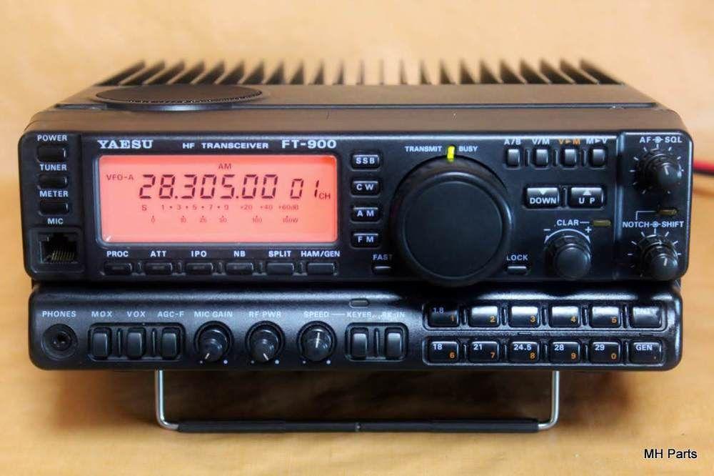 Yaesu Ft 900 Hf Transceiver 1 8 30mhz Collins Filter Xf 115s Antenna W Turner Yaesu Ems Tracking Ebay Antenna