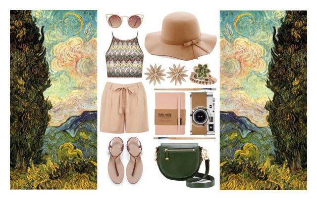 Summer / Van Gogh outfit by sofilla on Polyvore featuring moda, Topshop, Oasis, Zara, Rebecca Minkoff, R.J. Graziano, Gemvara, Quay and Hermès