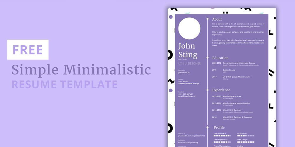 free minimalist resume template ultimate collection of free resume