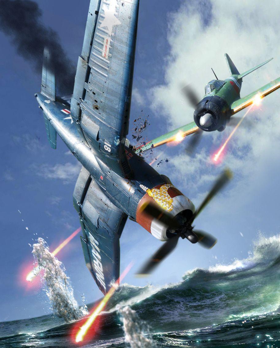 Обои painting, don greer, german fighter, Fw 190, aviation, war, ww2. Авиация foto 11