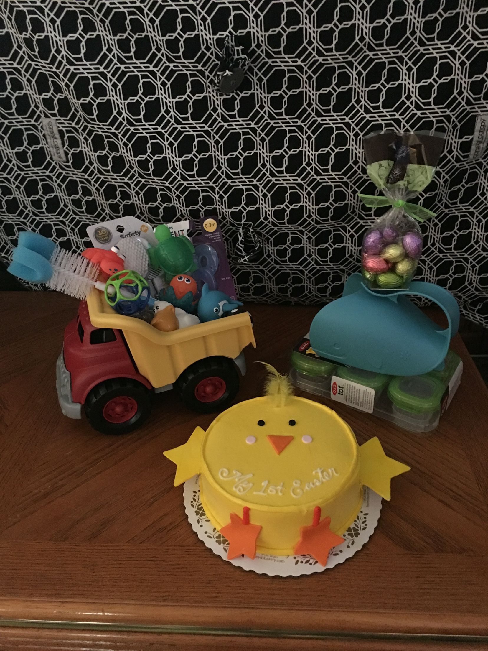 """My first Easter dump truck """"basket"""" Saw something"""