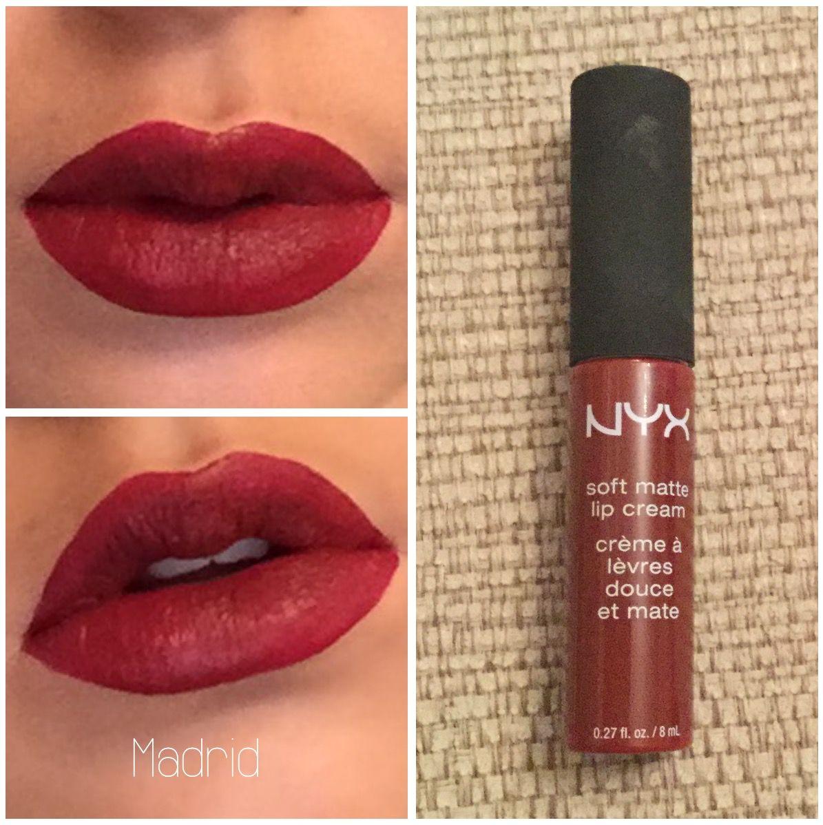 NYX Soft Matte Lip Cream Madrid Nyx soft matte lip