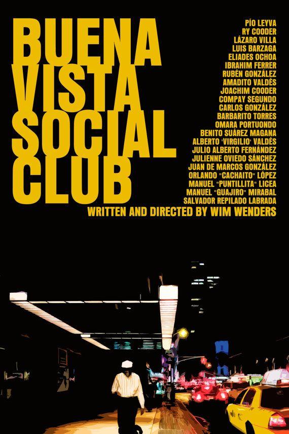Wenders Movie Poster Set: Wings Of Desire / Buena Vista Social Club / Pina via Etsy