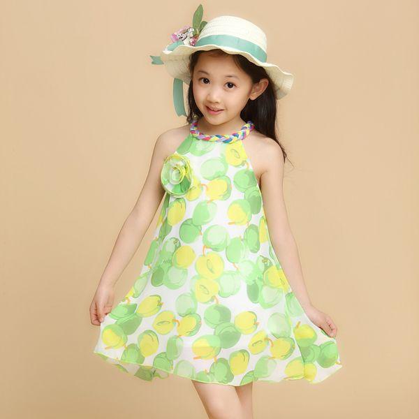 女童连衣裙夏天中大童沙滩裙小朋友装夏装吊带裙子女孩雪纺裙新款