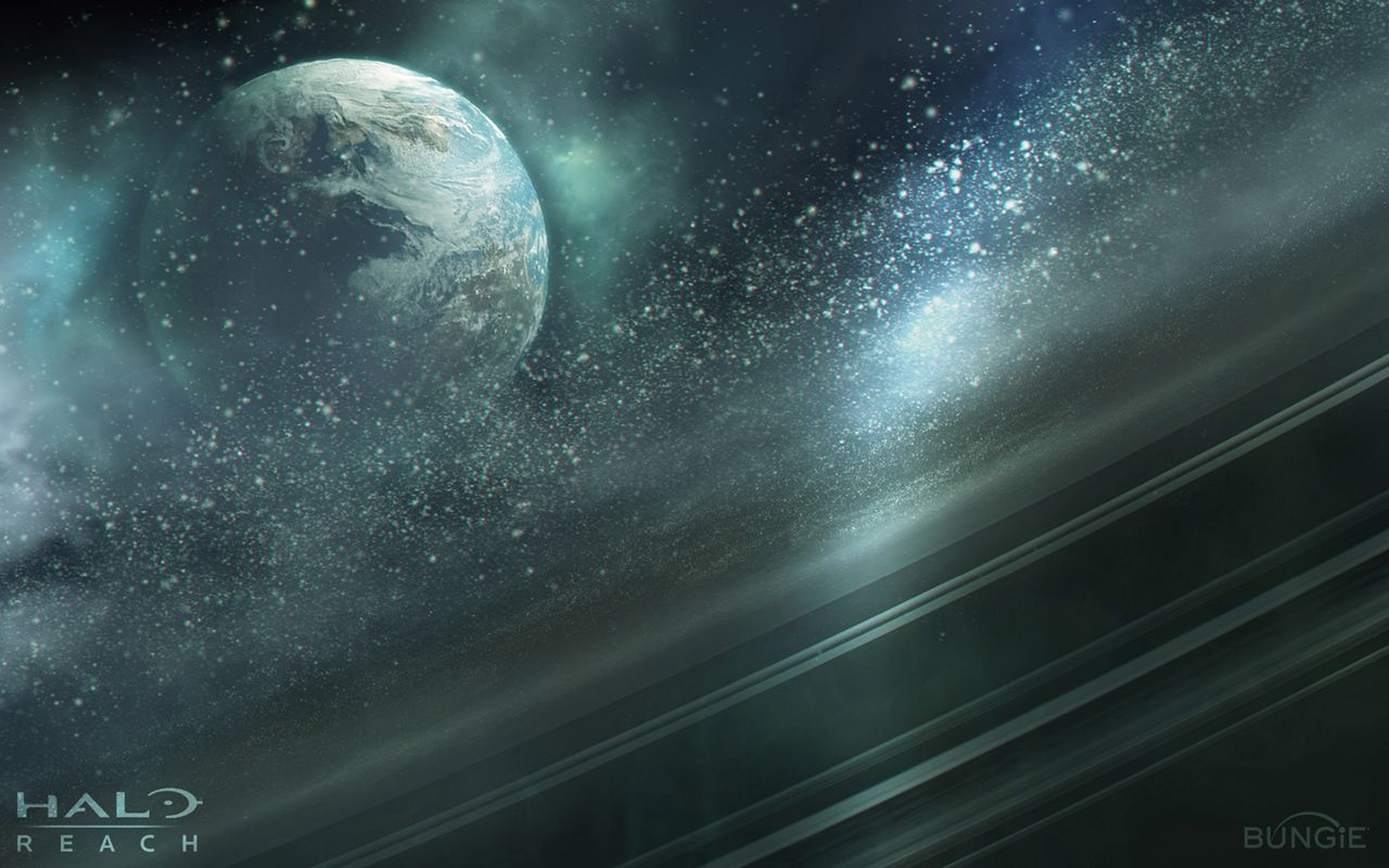Outer Space Planets Halo 1280x800 Wallpaper Halo Reach