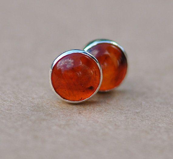 Amber Earrings Handmade With Sterling Silver Earring Studs