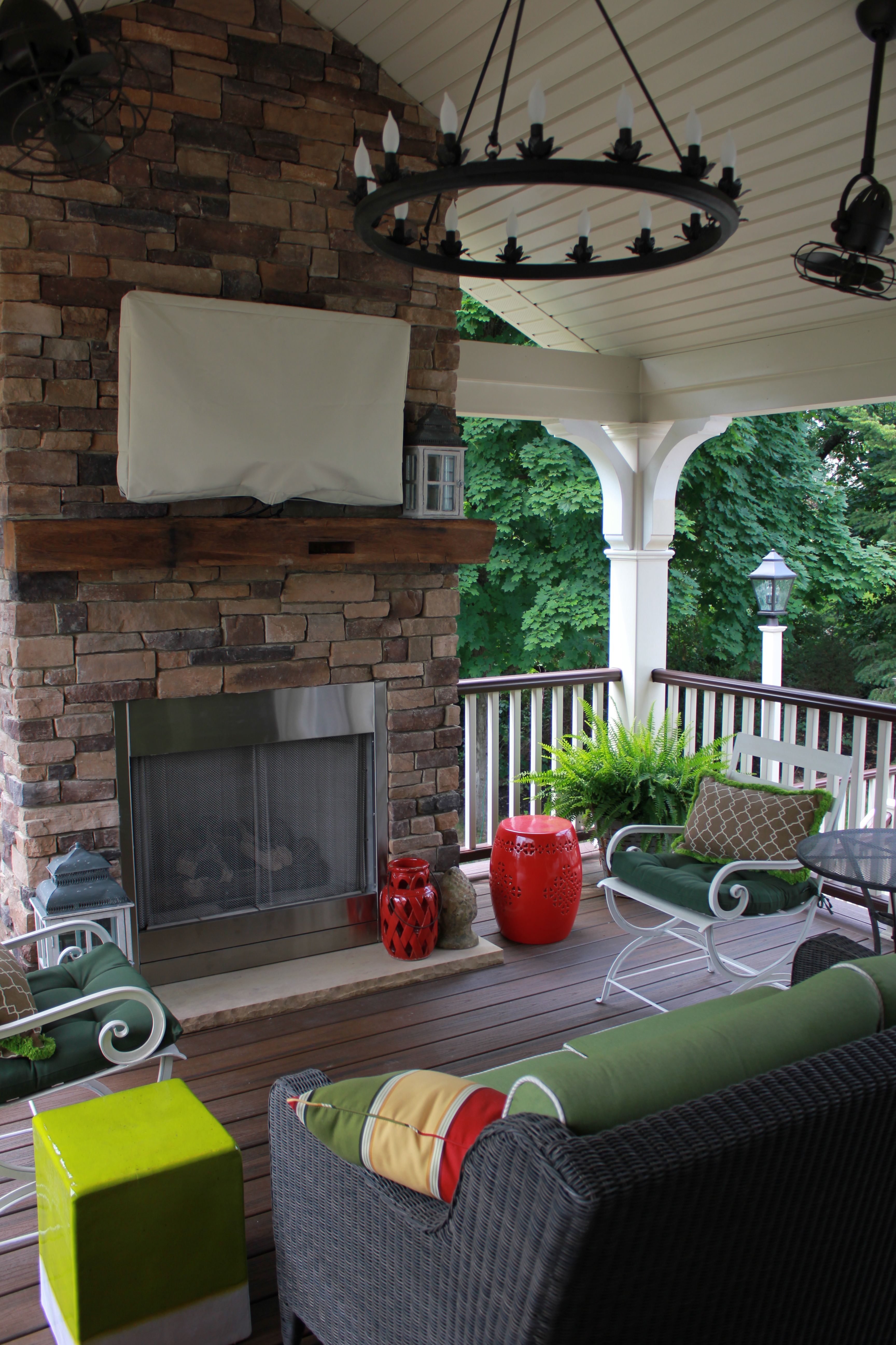 Trex Deck with Gas Fireplace   Outdoor remodel, Deck ... on Outdoor Gas Fireplace For Deck id=62254