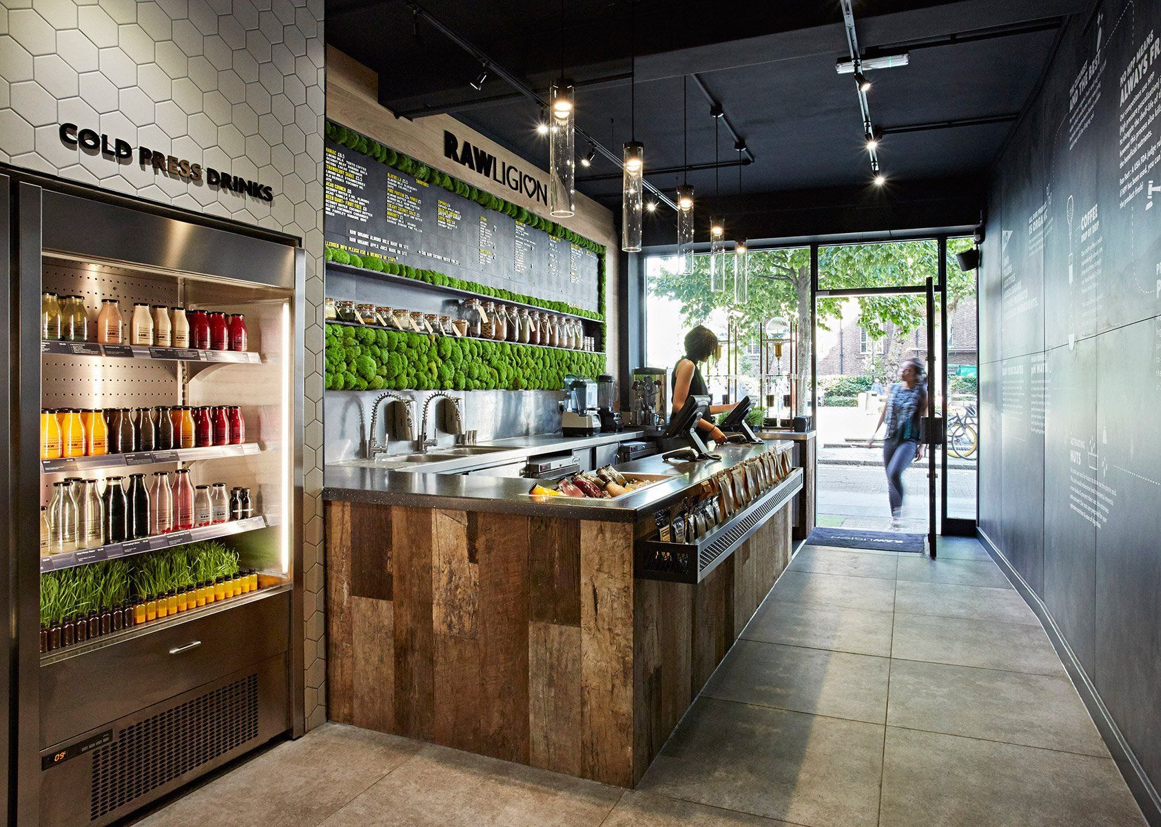 Design Studio Mystery Has Created The Branding And Interiors For A New Health Food Restaur Juice Bar Design Kitchen Remodel Inspiration Health Food Restaurants