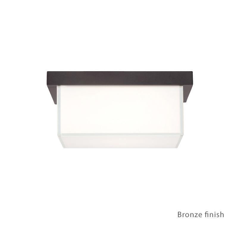 "Modern Forms FM-1410 Ledge 1 Light 8"" Wide LED Outdoor Flush Mount Ceiling Fixtu Bronze Outdoor Lighting Ceiling Fixtures Flush Mount"