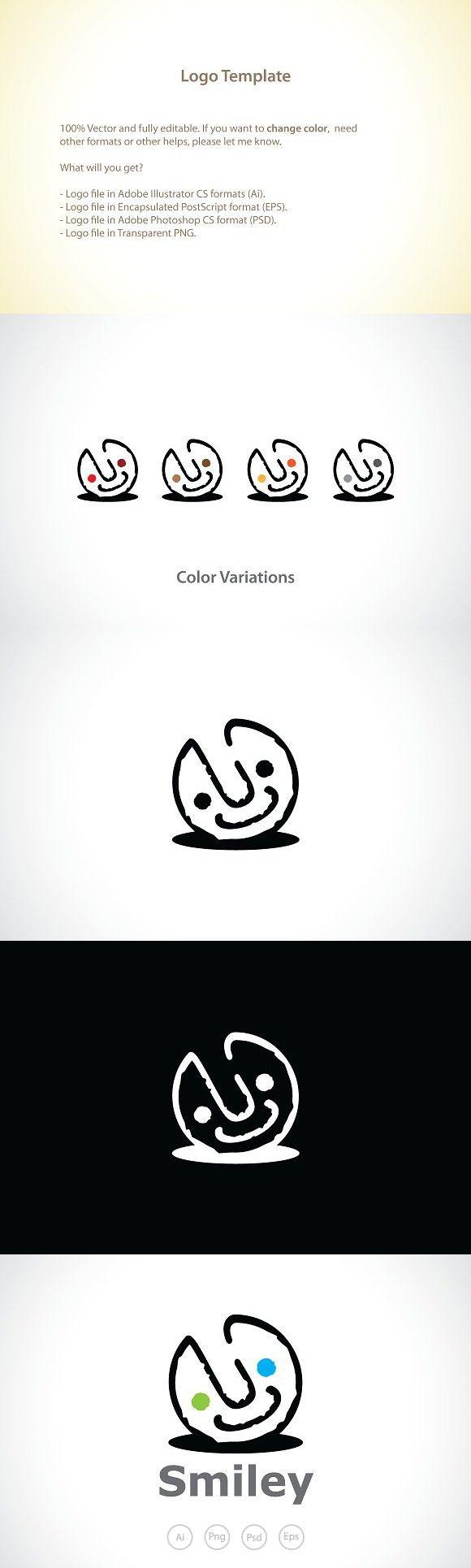 Happy Smiley Logo Template | Logo Templates | Logo templates