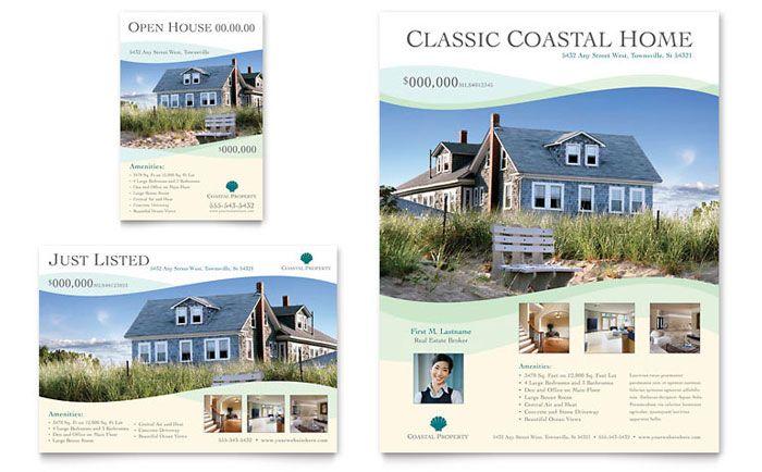 Coastal Real Estate Flyer Ad Template Design Real Estate Flyer Template Real Estate Ads Real Estate Flyers