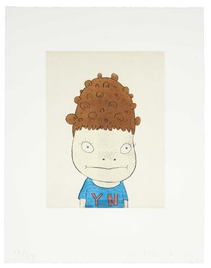 YOSHITOMO NARA, Y.N. (Self-Portrait), 2002, etching and aquatint