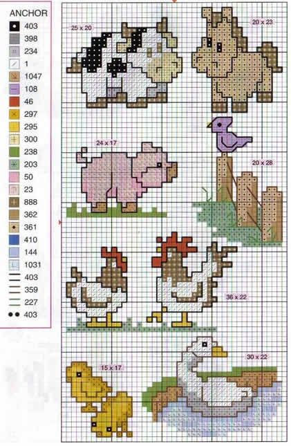 Cross stitch patterns - Not in English but the pattern images are ...