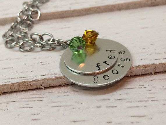 Custom Hand Stamped Mother's Necklace Stacked by RunsOnGrace