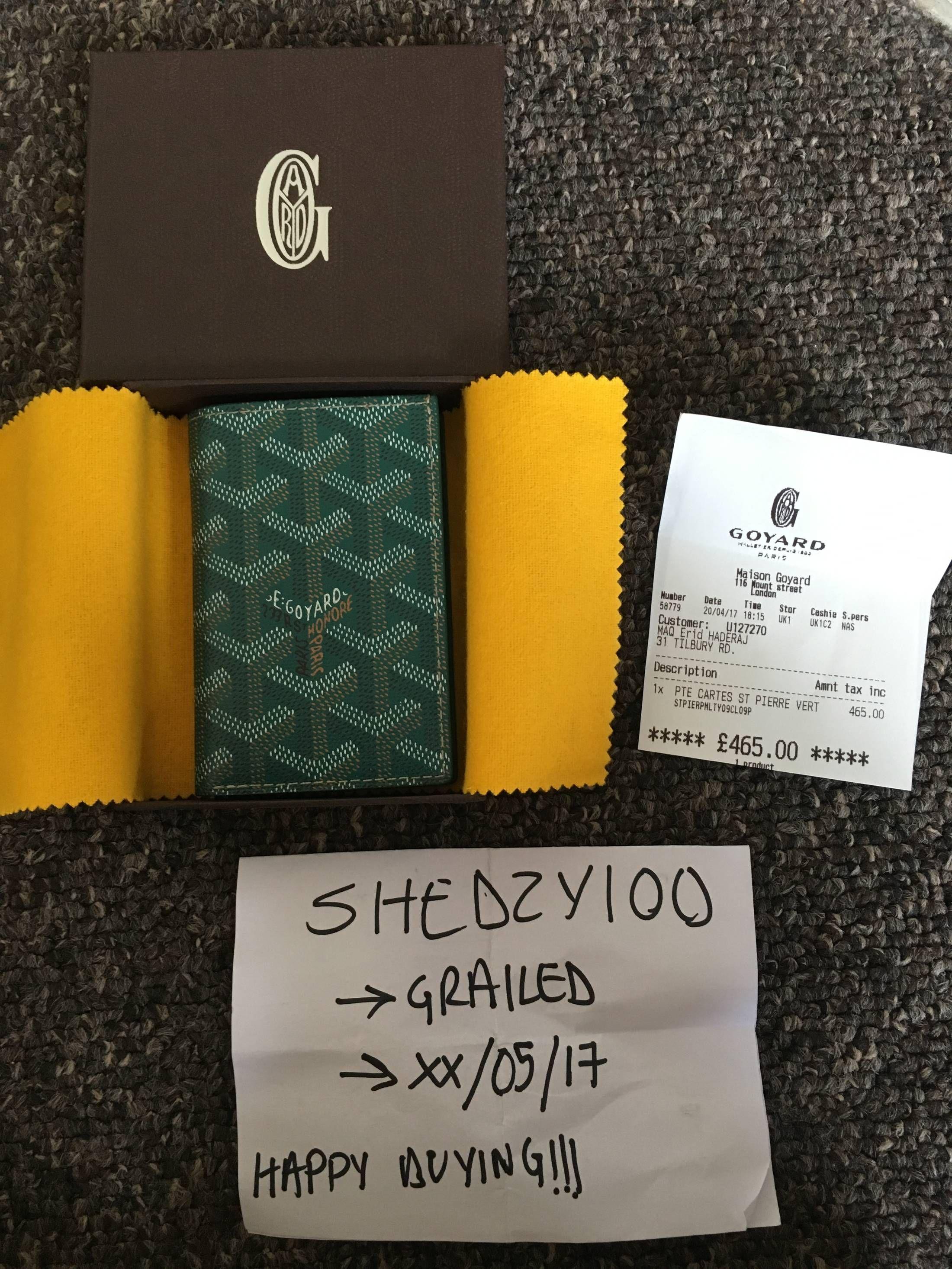 a4fcb03d7a38 Goyard Goyard St Pierre Green Wallet Size ONE SIZE Wallets