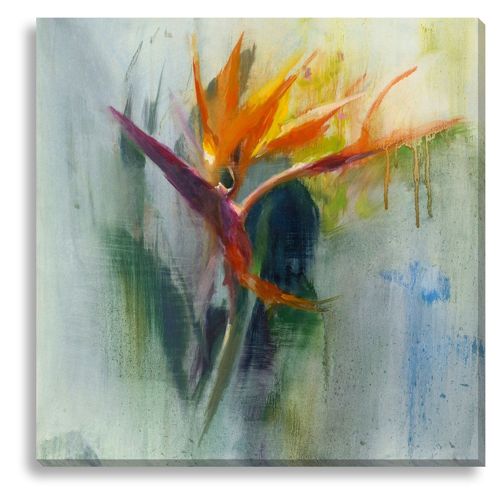 New Era Bird Of Paradise I Indoor Outdoor Canvas Print By Allyson