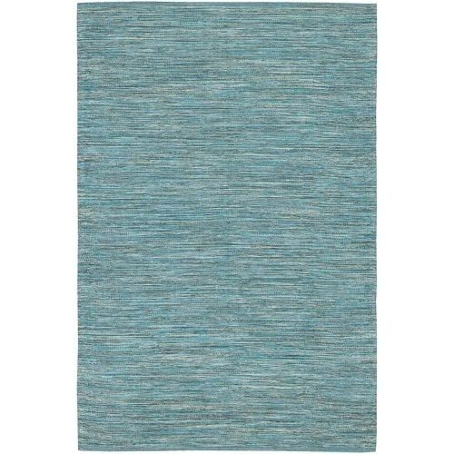 Chandra Rugs India 14 Blue Cotton Area Rug Hand Woven In 2 1 X 7 Outlet And Products