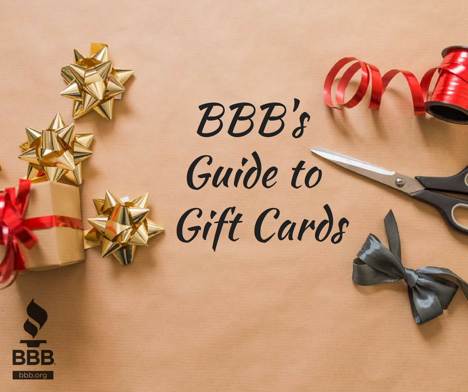 BBB tips for buying & giving gift cards over the holidays