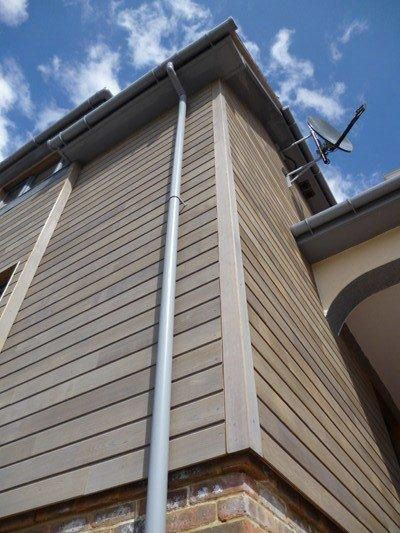 Example Of Outside Corner Trim Same Thickness As Siding Not Protruding Past Siding Plane In 2020 Wood Cladding Exterior Exterior Cladding Cedar Cladding