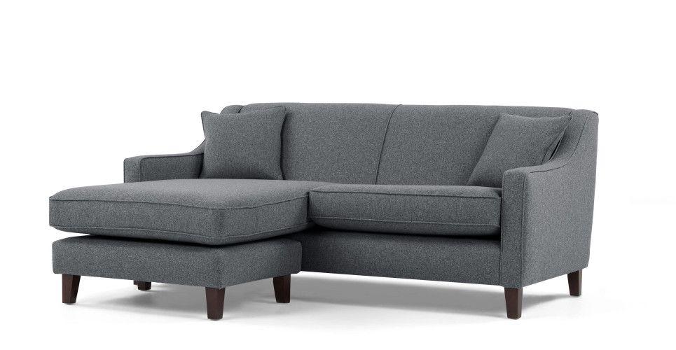 Halston Corner sofa, Charcoal Weave   made.com