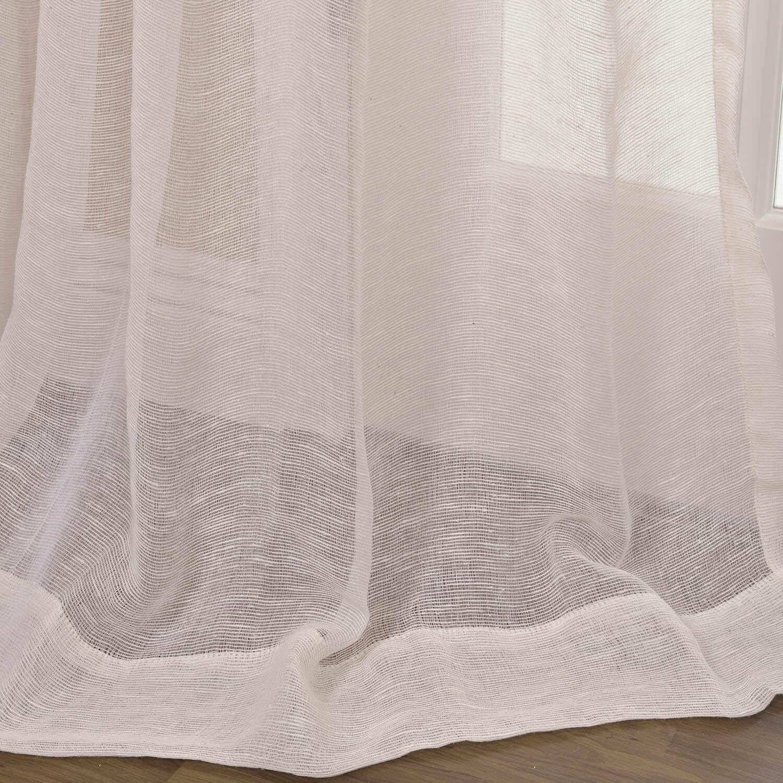 Open Weave Cream Linen Sheer Curtains Drapes In 2020 Sheer Linen Curtains Half Price Drapes Curtains