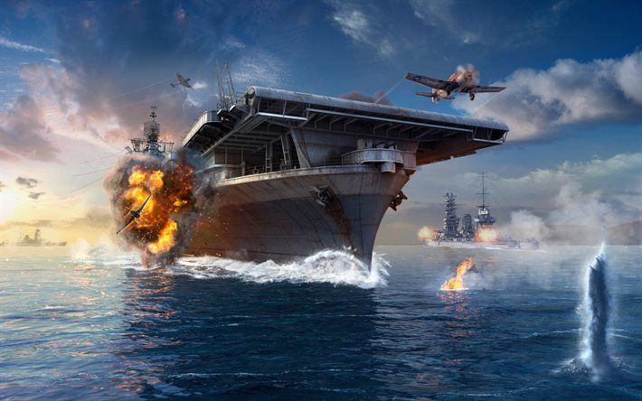 Download Wallpapers World Of Warships Wows American Aircraft