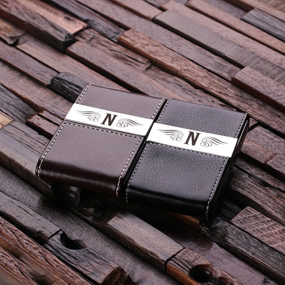 Personalized leather engraved monogrammed business card holder personalized leather engraved monogrammed business card holder groomsmen graduation christmas holiday gift him and colourmoves