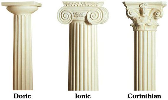 types of columns in greek architecture