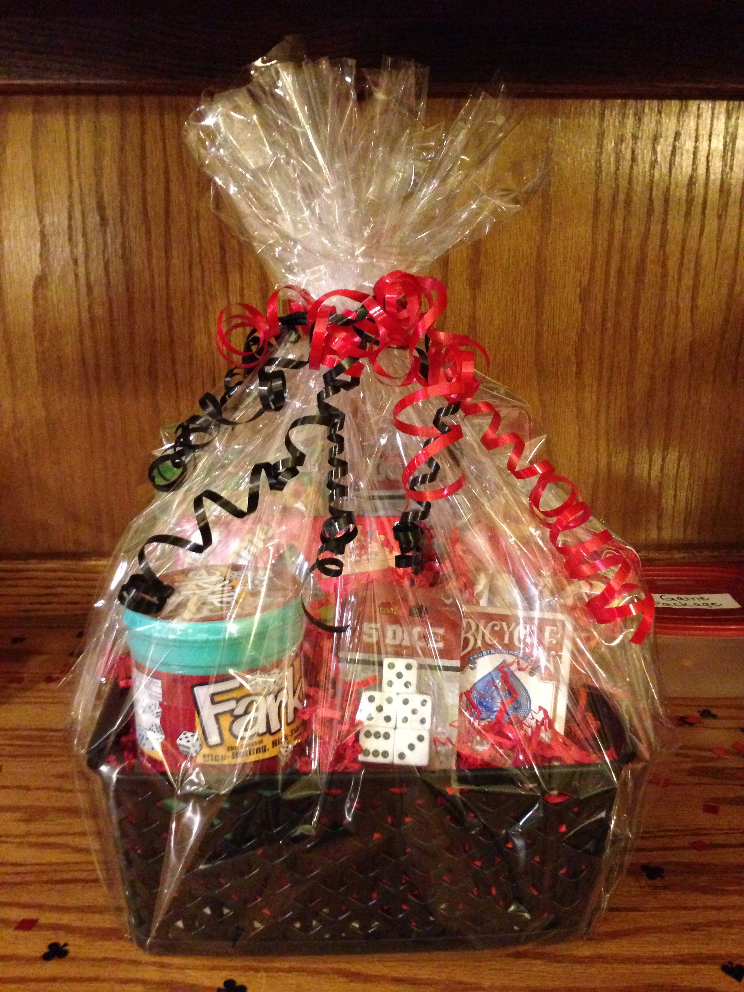 Game prize basket for 30th birthday casino party Casino