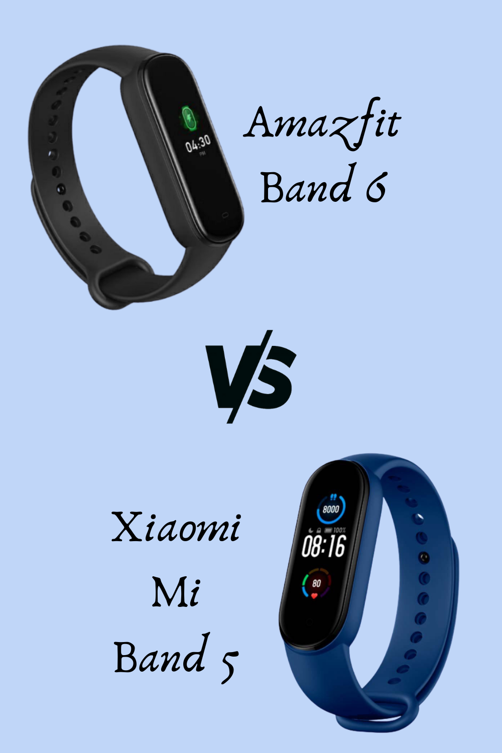 Amazfit Band 6 Vs Xiaomi Mi Band 5 What S The Difference Band Xiaomi Fitness Tracker