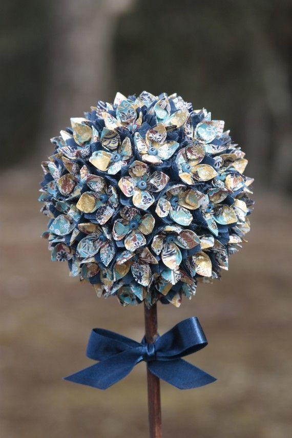 Amazing Topiary Using Japanese Washi Paper Wedding Ideas