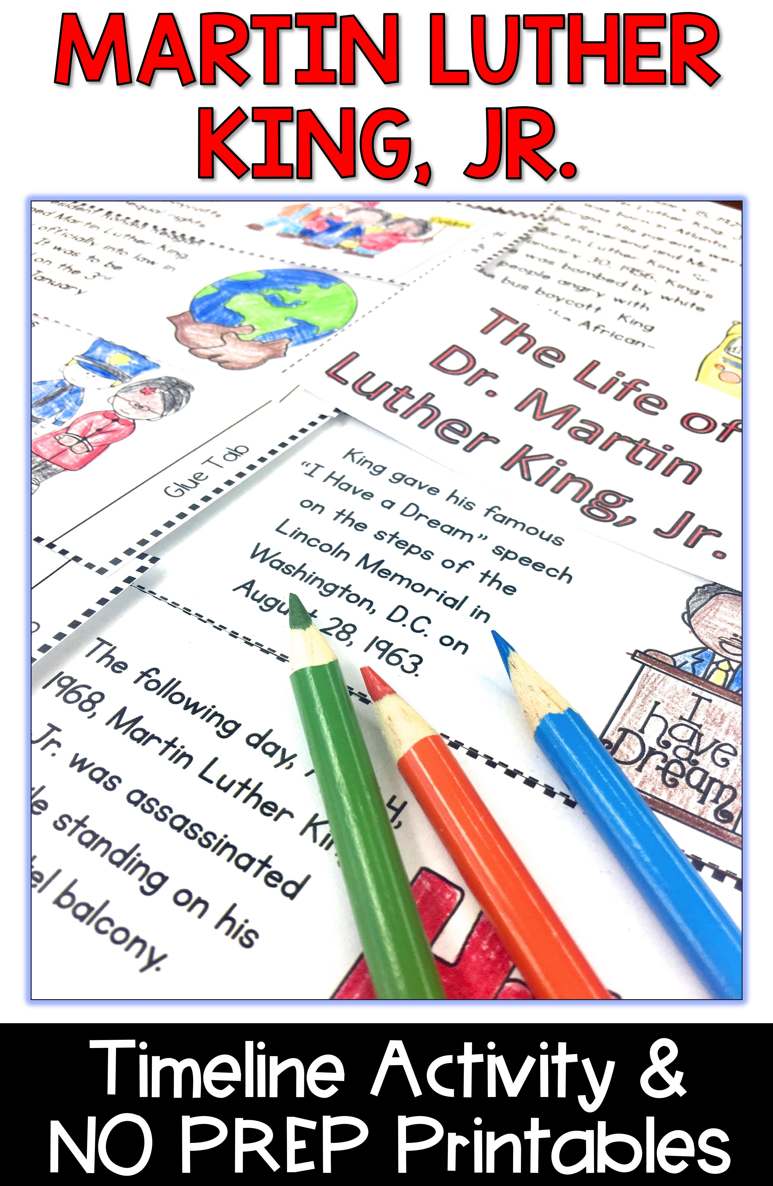 Martin Luther King Jr Activities And Mlk Activities