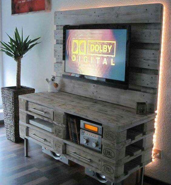 Mobili per tv fai da te realizzati con bancali 20 idee - Mobili di bancali ...