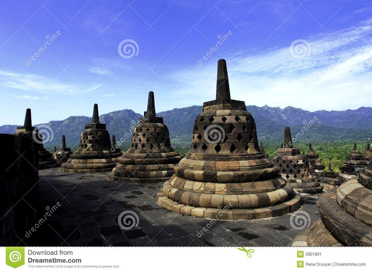 Indonesia Central Java The Temple Of Borobudur