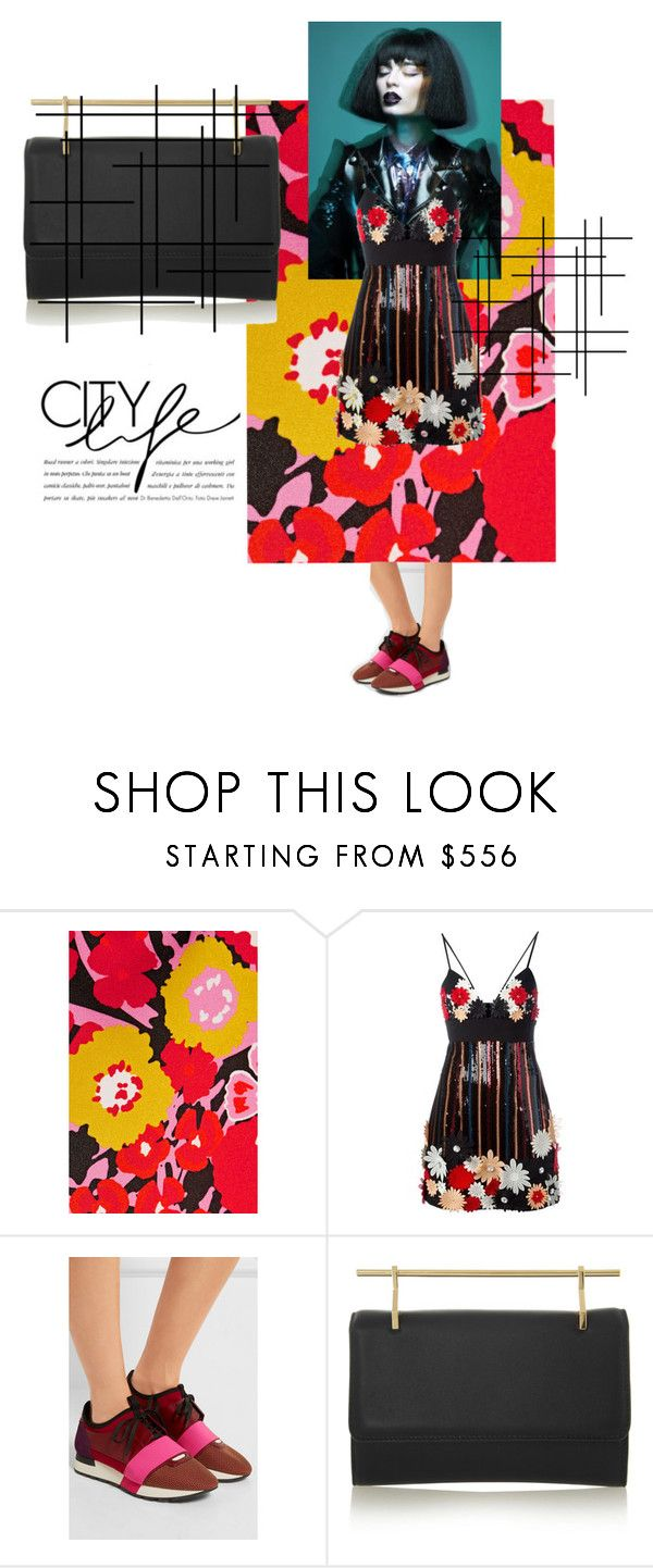 """""""Summer in the city"""" by ariel-stef ❤ liked on Polyvore featuring Victoria, Victoria Beckham, Emanuel Ungaro, Balenciaga and M2Malletier"""