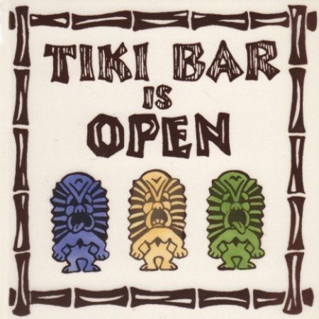 Souvenir Tile Hi Tiki Bar 6x6 Tile