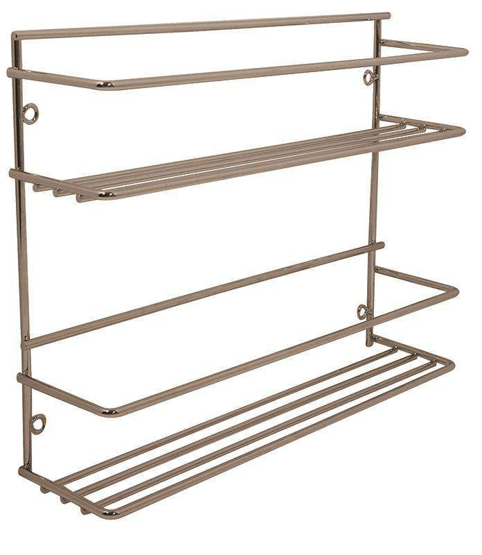 Gelmar Handles Furniture Fittings Spice Rack 2 Tier Chrome