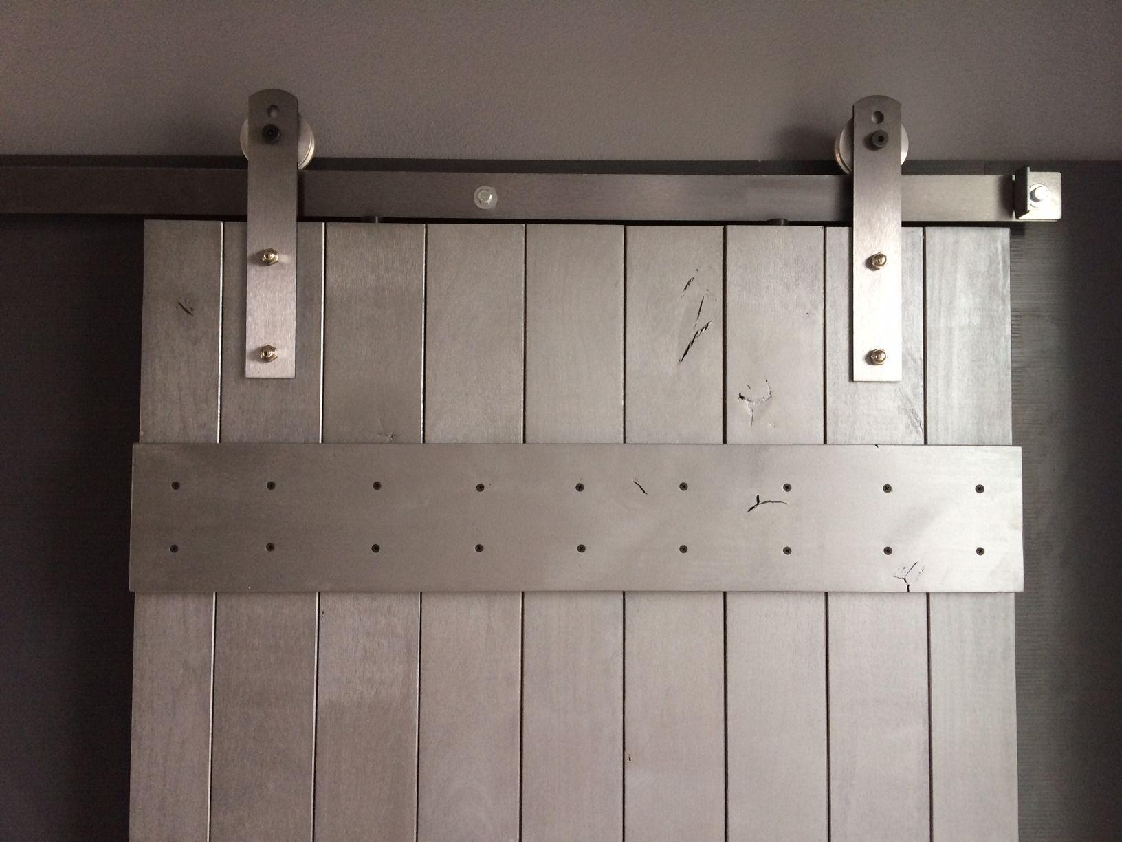 Wondrous Dark Wooden Interior Barn Style Doors Hardware With