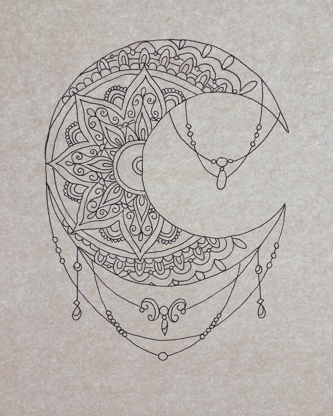 beautiful moon mandala pattern credit https www. Black Bedroom Furniture Sets. Home Design Ideas